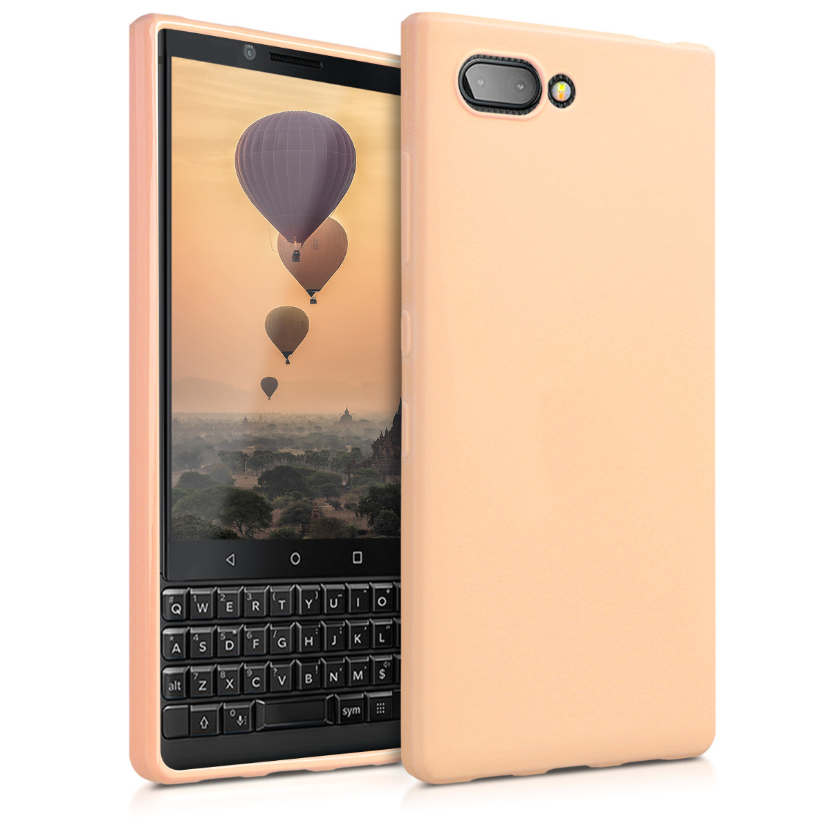 KW Θήκη Σιλικόνης Blackberry KEY2 - Peach (45435.138)