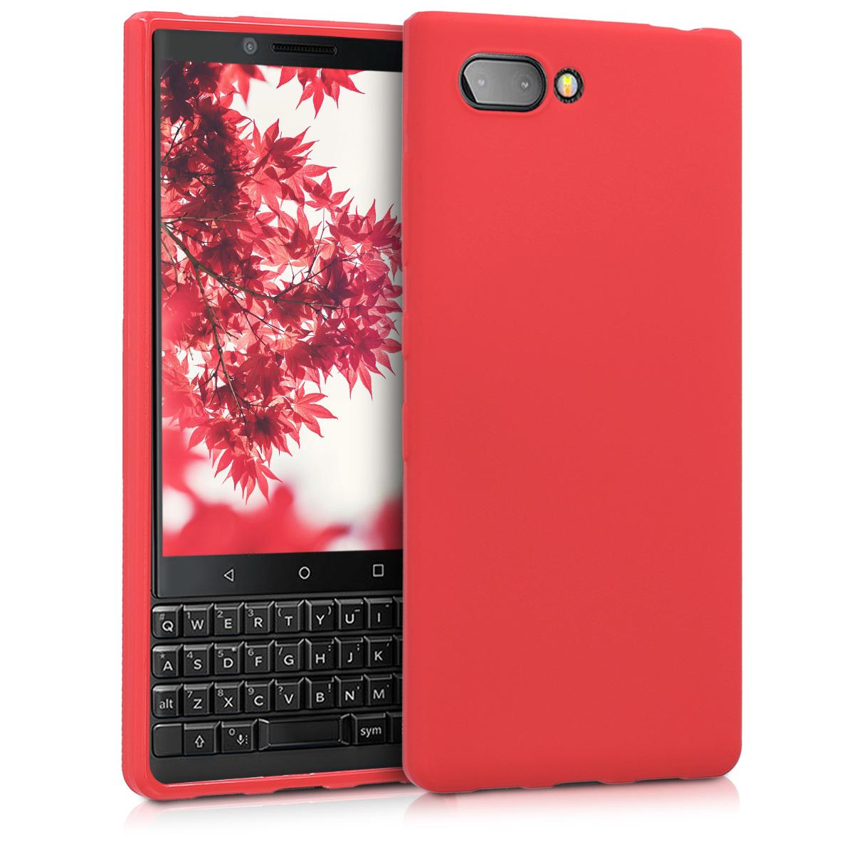 KW Θήκη Σιλικόνης Blackberry KEYtwo (Key2) - Red Matte (45435.51)