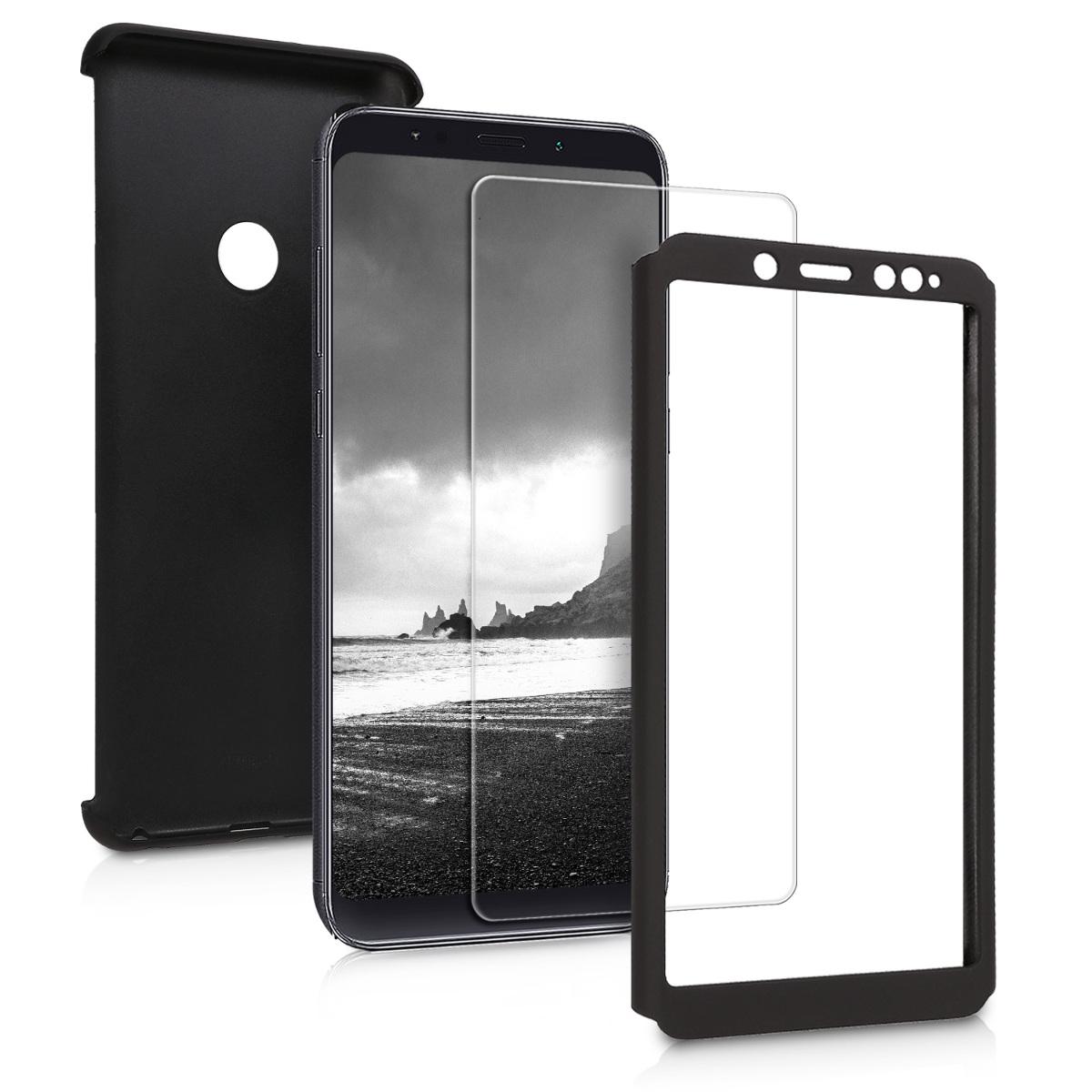 KW Θήκη Full Body για Xiaomi Redmi Note 5 & Tempered Glass - Metallic Black  (45468.68)