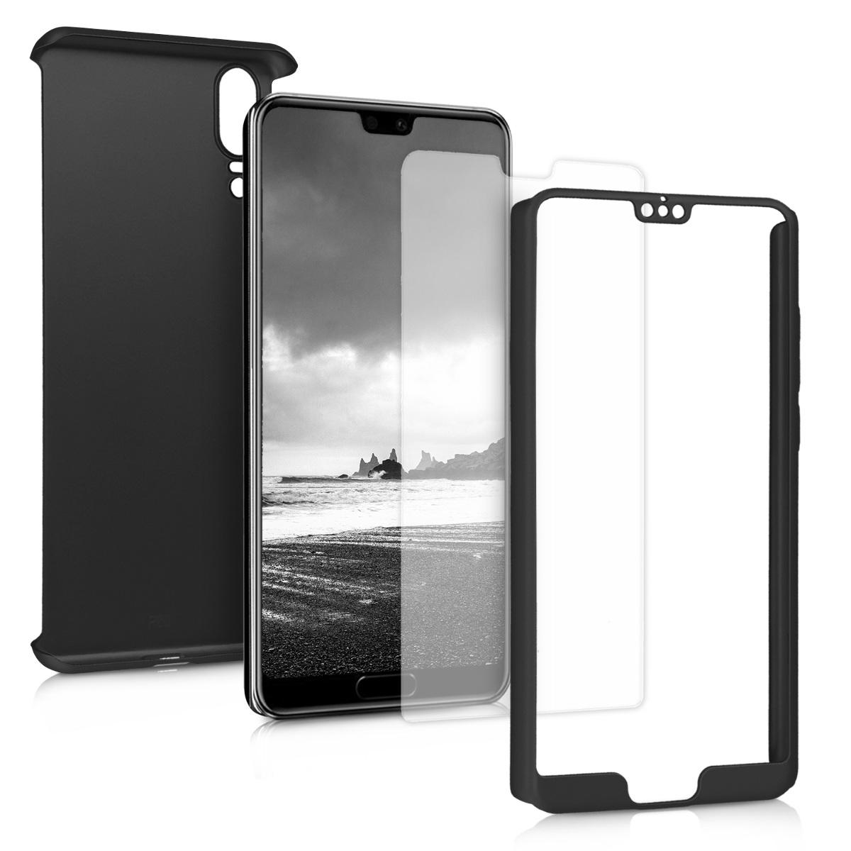 KW Full Body Θήκη με Screen Protector Huawei P20 -Metallic Black (45554.68)
