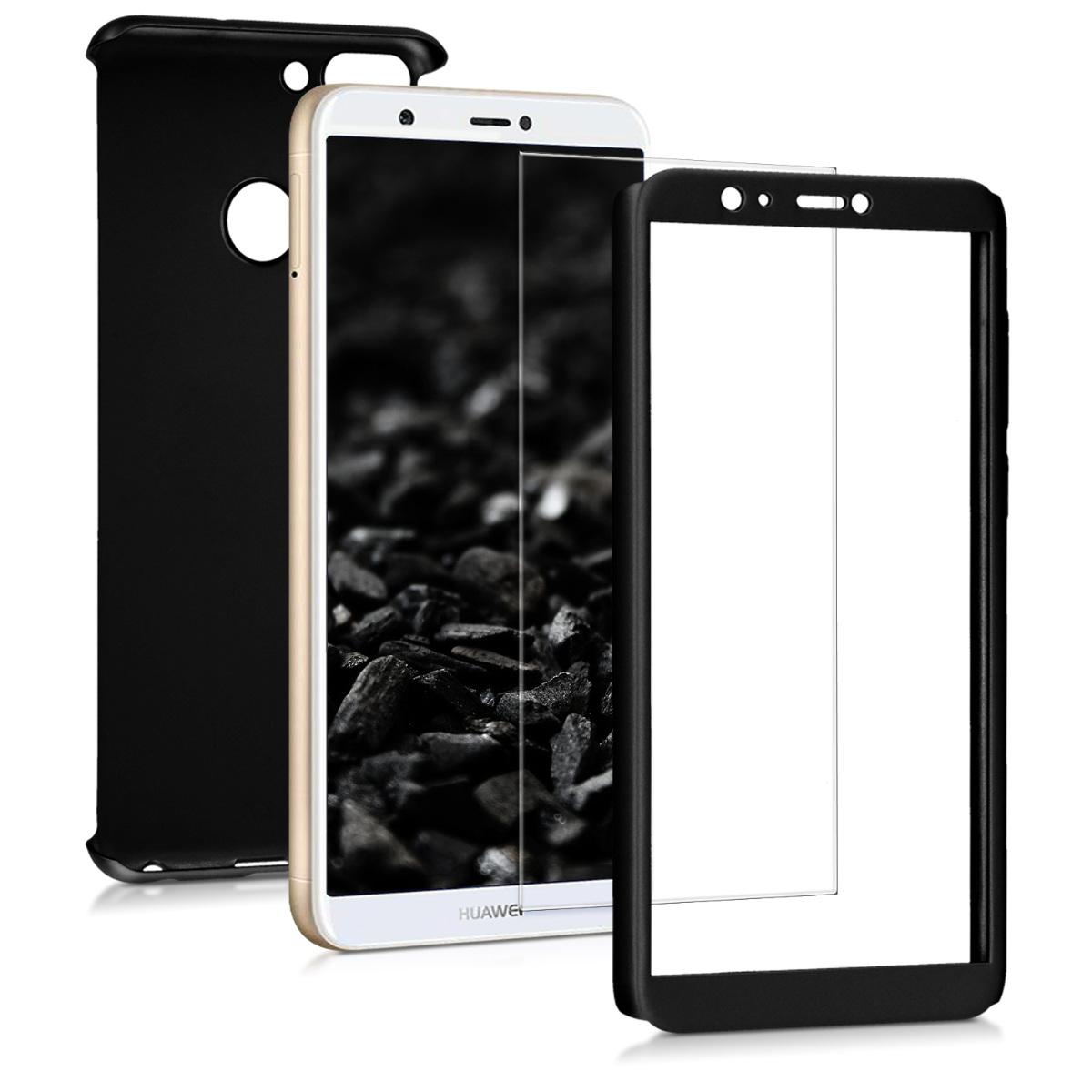 KW Θήκη Full Body Huawei  P Smart 2018 & Tempered Glass - Metallic Black (45559.68)
