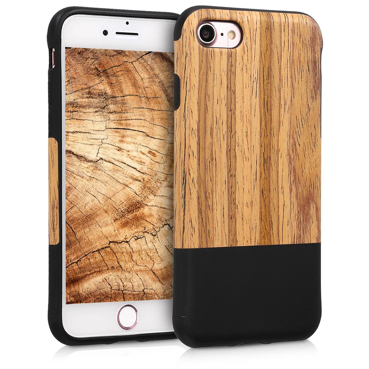 KW Σκληρή Ξύλινη Θήκη -  iPhone 7 / 8 - TPU - Two-Tone - (45571.01)