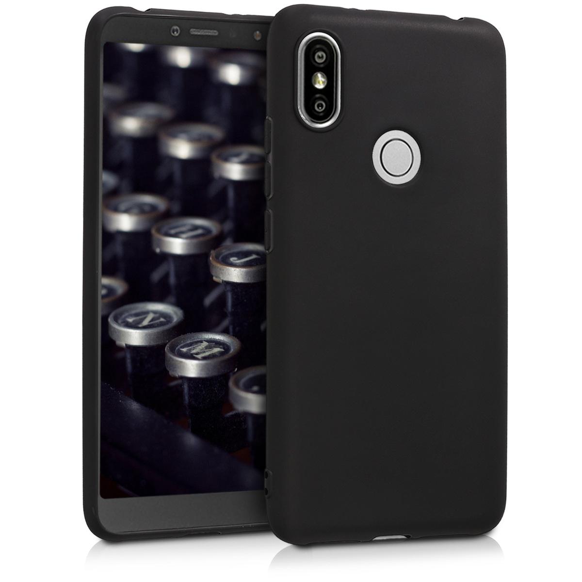 KW Θήκη Σιλικόνης Xiaomi Redmi S2 - Black Matte (45589.47)