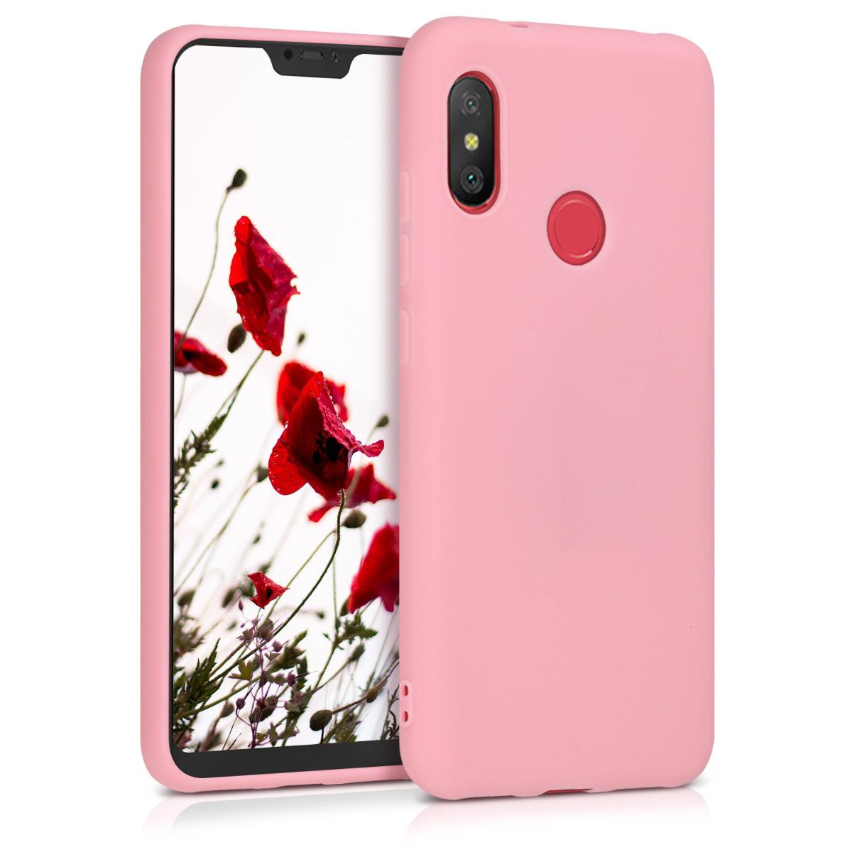 KW Θήκη Σιλικόνης Xiaomi Mi A2 Lite / Redmi 6 Pro - Light Pink Matte (45617.63)