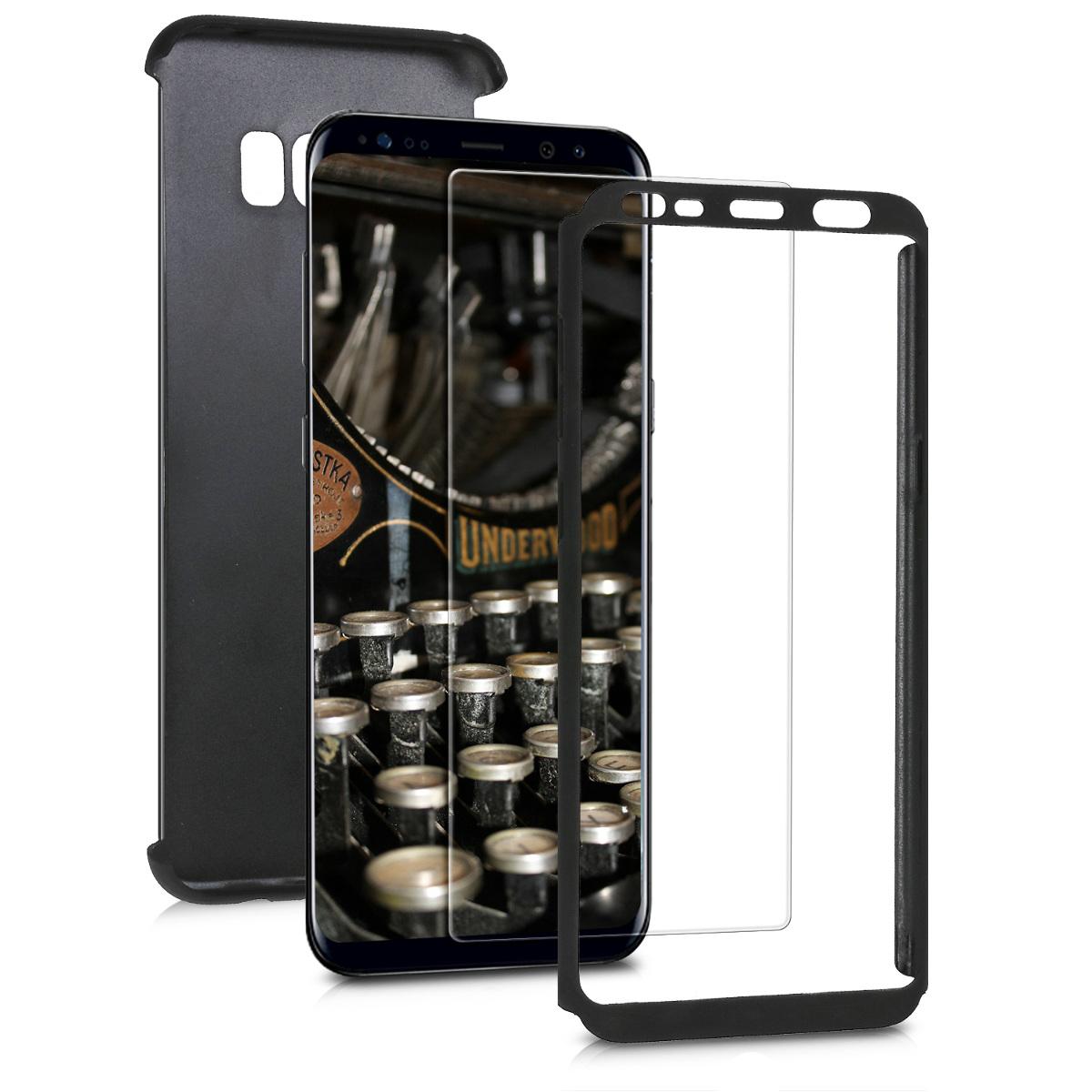 KW Θήκη Full Body για Samsung Galaxy S8 Plus & Screen Protector - Metallic Black (45620.68)