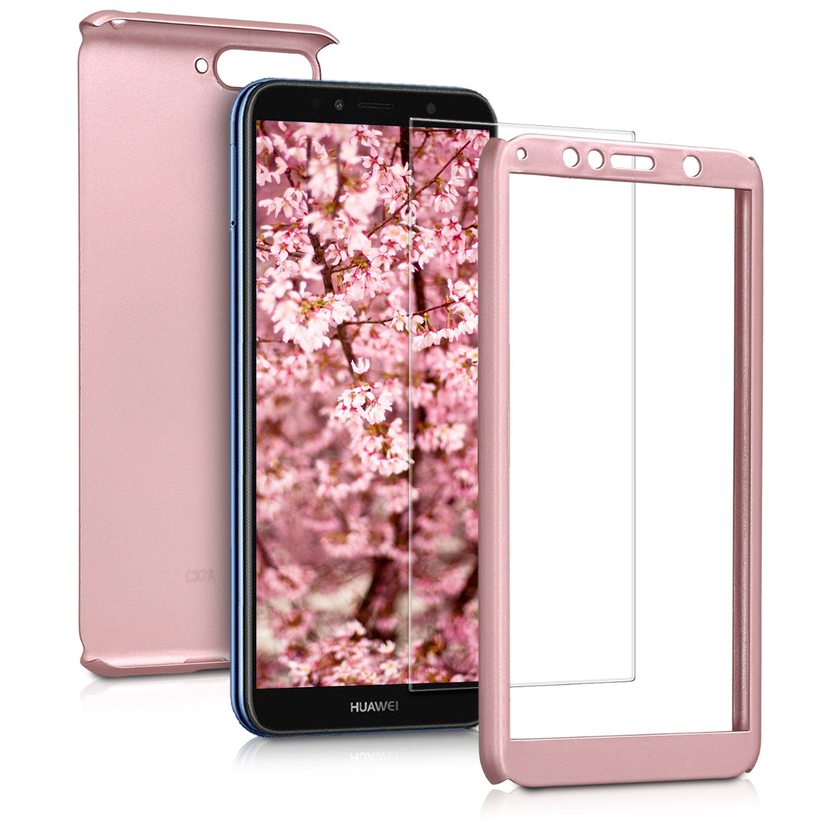 KW Θήκη Full Body with Screen Protector -  Huawei Y6 (2018) - Metallic Rose Gold (45639.31)