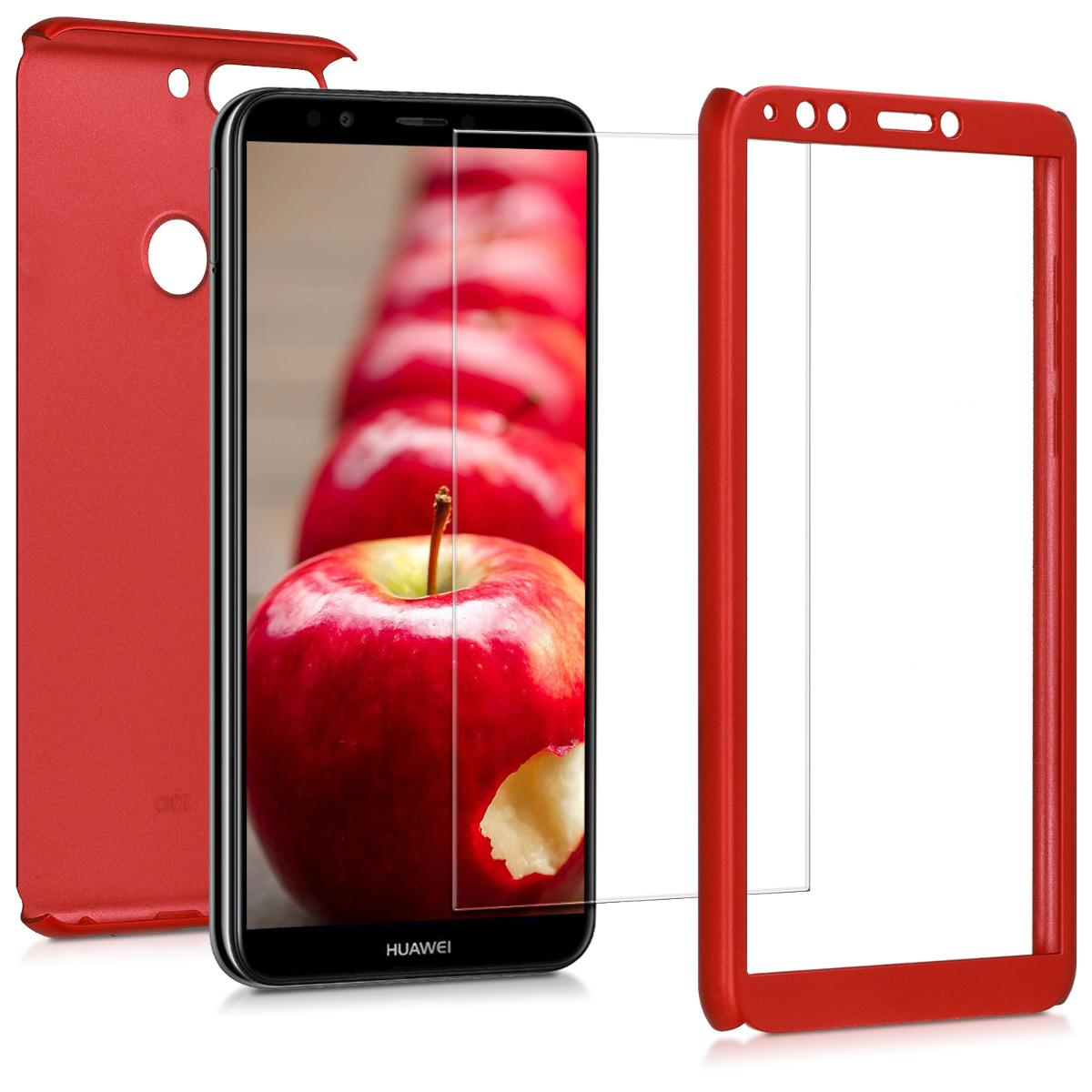 KW Θήκη Full Body with Screen Protector - Huawei Y7 (2018) /Y7 Prime (2018) - Metallic Dark Red (45640.36)