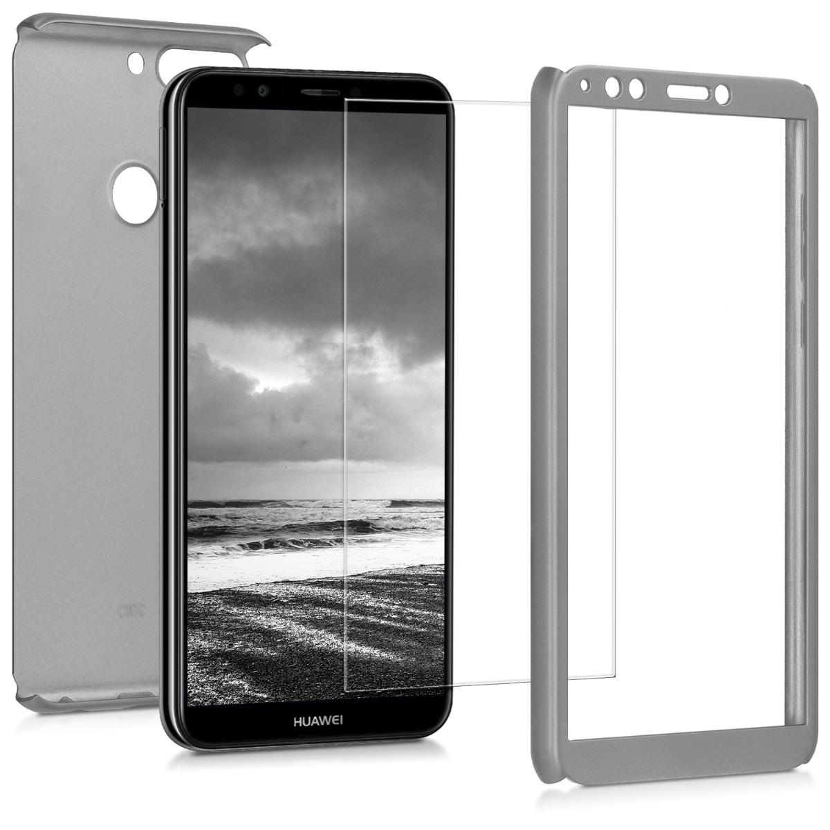 KW Θήκη Full Body Huawei Y7 (2018) /Y7 Prime (2018) & Screen Protector - Metallic Silver (45640.67)