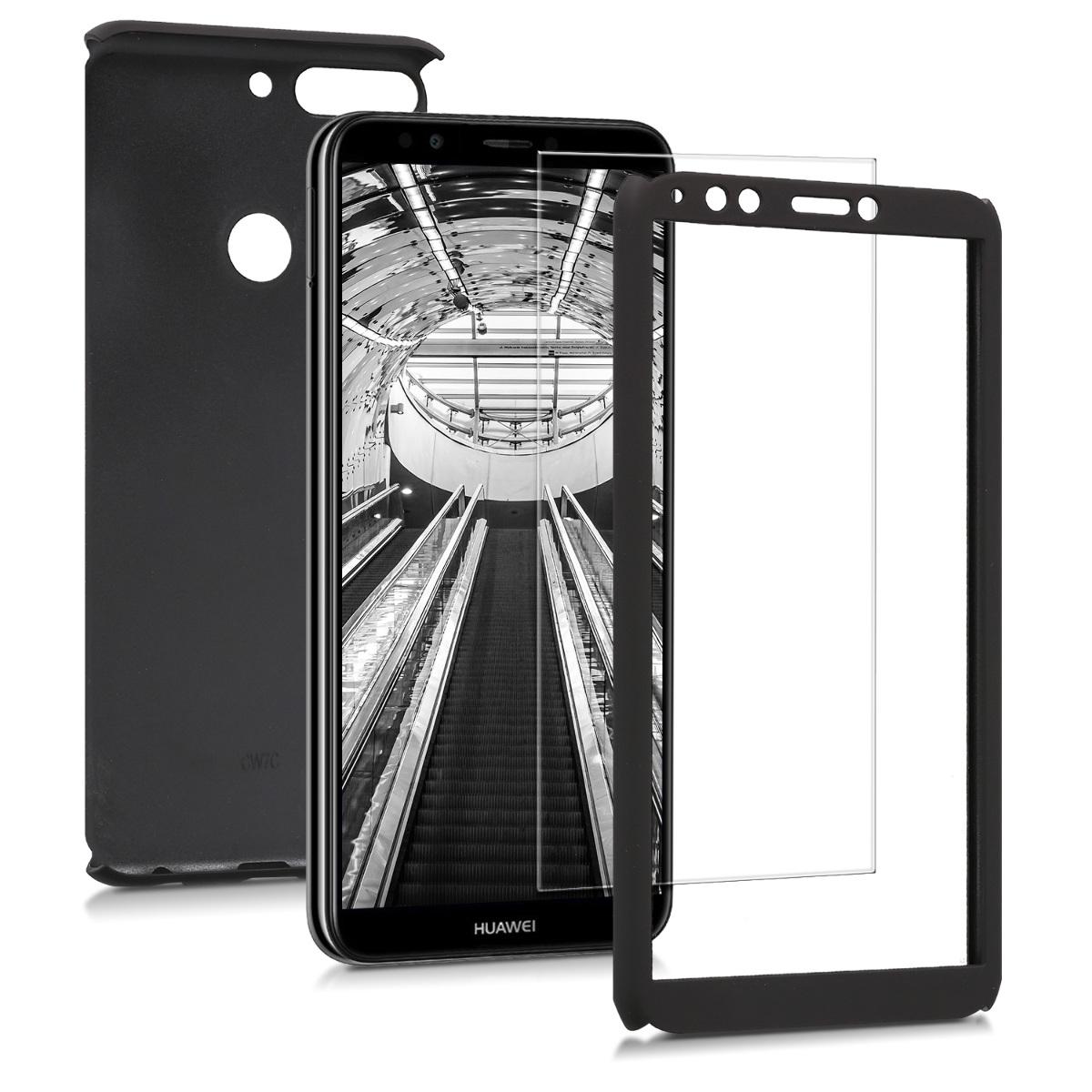 KW Θήκη Full Body για Huawei Y7 / Y7 Prime 2018 & Tempered Glass - Metallic Black (45640.68)