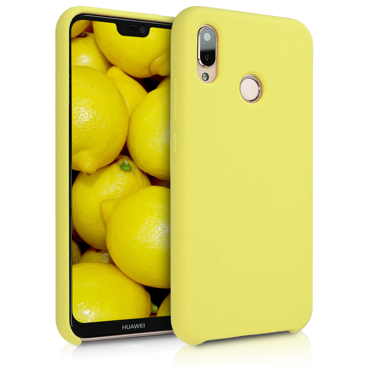KW TPU Θήκη Σιλικόνης  Huawei P20 Lite - Soft Flexible Rubber Protective Cover - Pastel Yellow (45687.30)