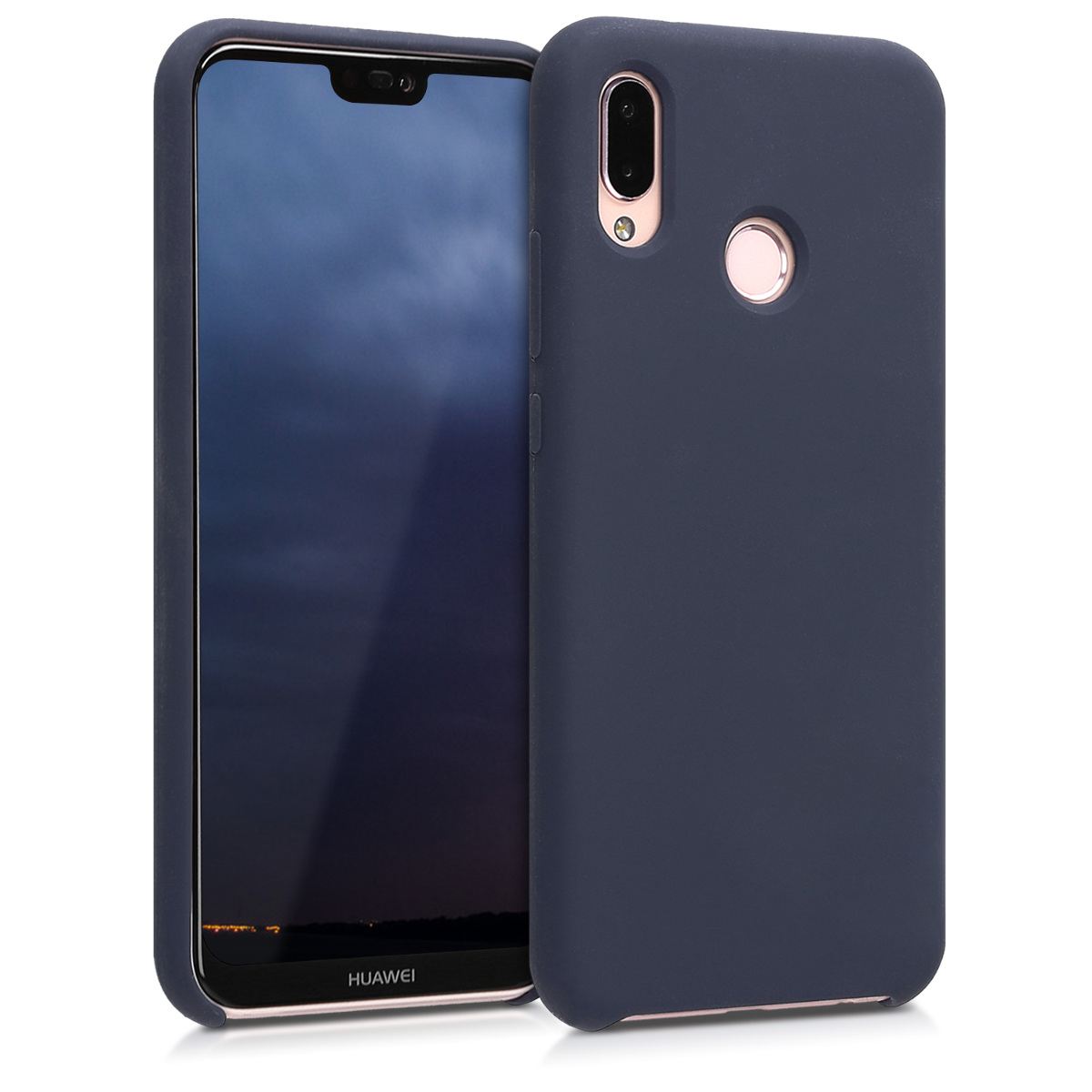 KW Θήκη Σιλικόνης Huawei P20 Lite - Soft Flexible Rubber - Dark Blue Matte - (45687.53)