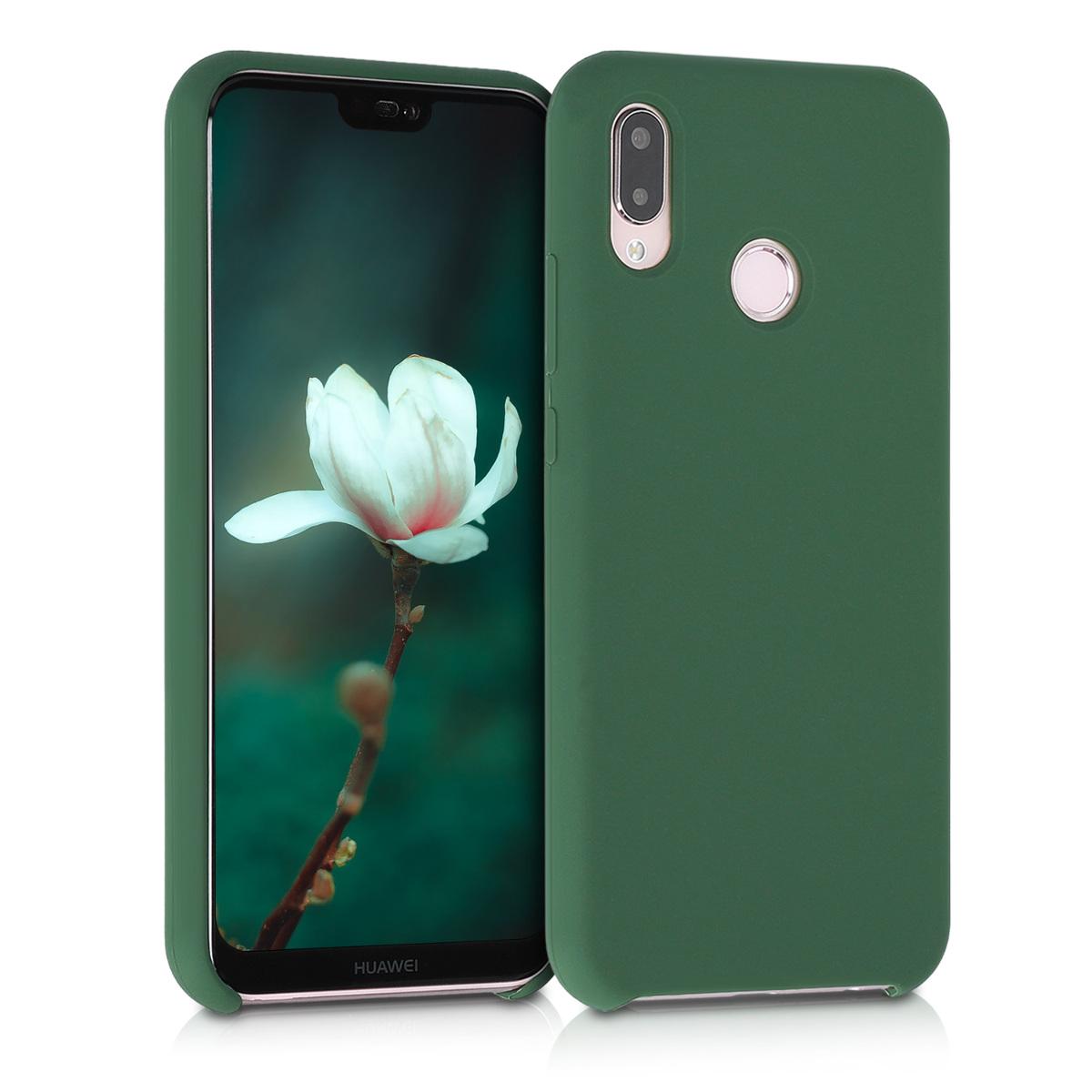 KW Θήκη Σιλικόνης Huawei P20 Lite - Dark Green - (45687.80)