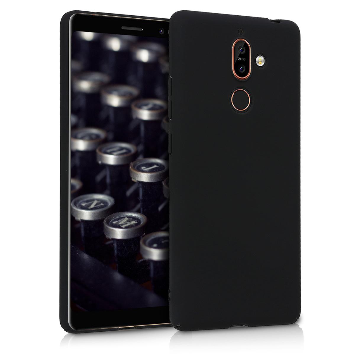 KW Θήκη Σιλικόνης Nokia 7 Plus - Black (45699.01)