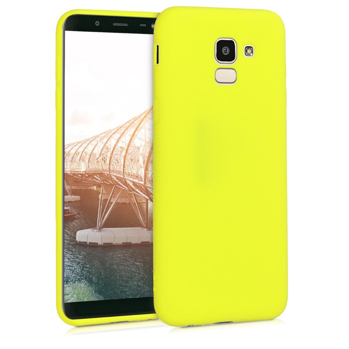 KW Θήκη Σιλικόνης Samsung Galaxy J6 - Lemon Yellow (45796.149)