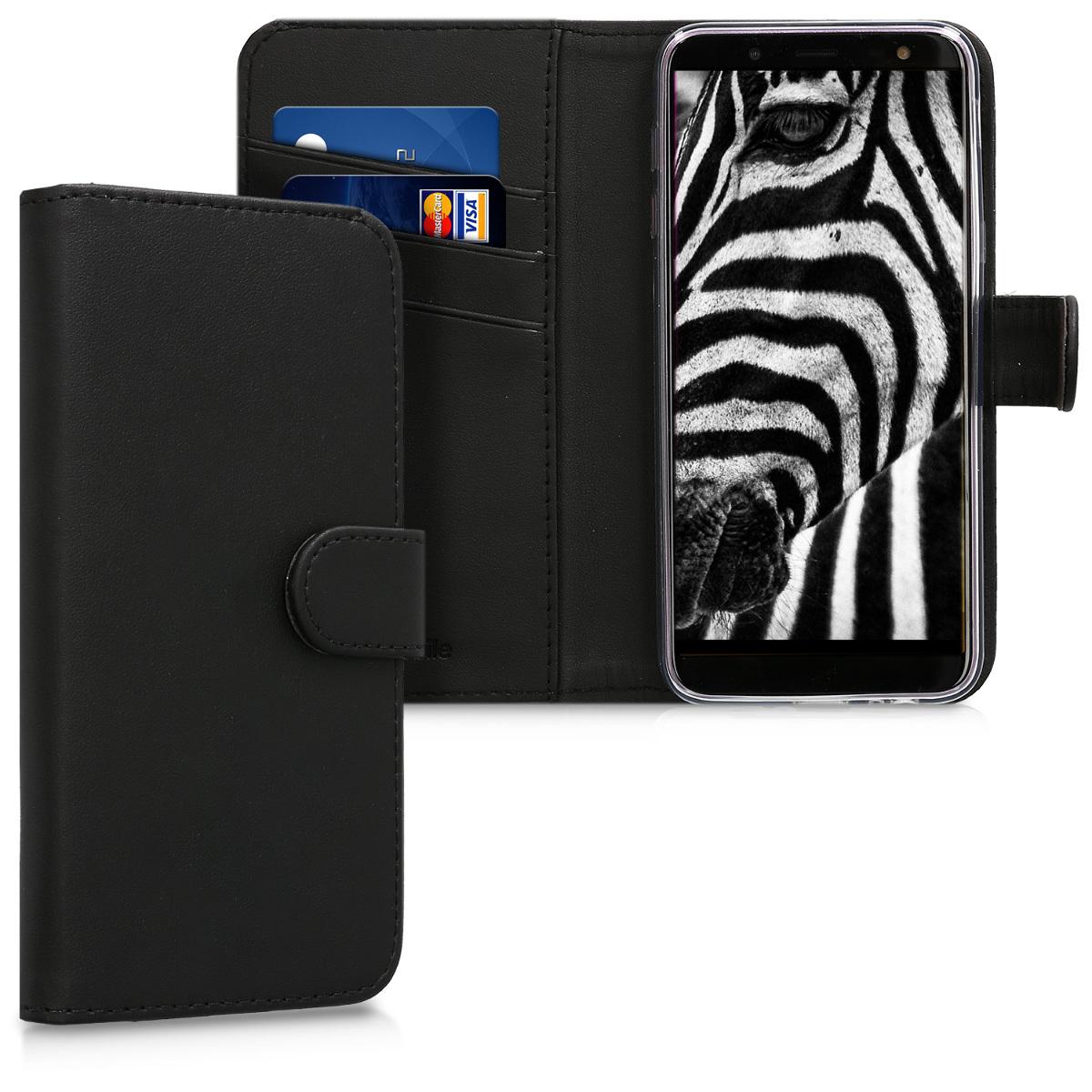 KW Θήκη Πορτοφόλι  Samsung Galaxy J6 - Συνθετικό δέρμα - Black (45798.01)