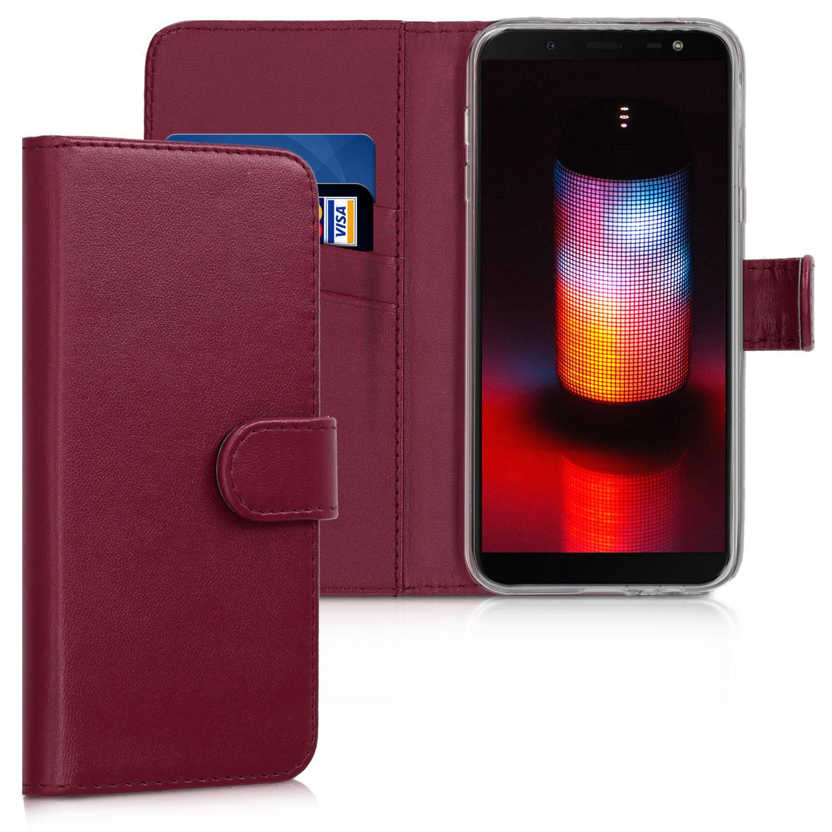 KW Θήκη Πορτοφόλι Samsung Galaxy J6 2018 - Dark Red (45798.13)