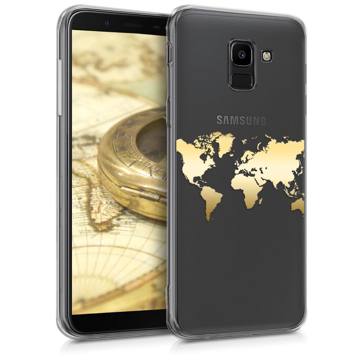KW Θήκη Σιλικόνης Samsung Galaxy J6 - Gold / Transparent (45800.03)