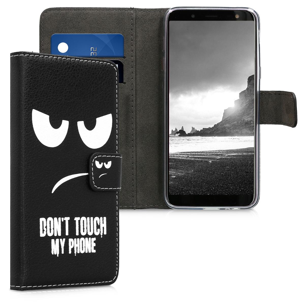 KW Θήκη Πορτοφόλι Samsung Galaxy J6 - White / Black (45802.01)
