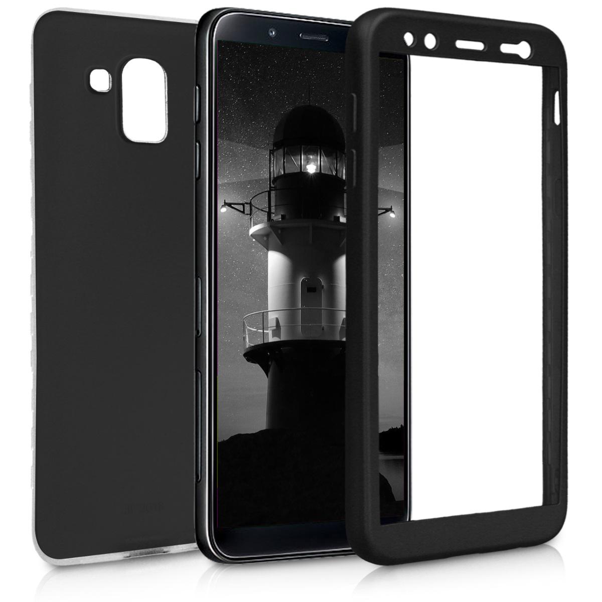 KW Θήκη Σιλικόνης Full Body Samsung Galaxy J6 2018 - Μαύρο μεταλλικό (45806.68)