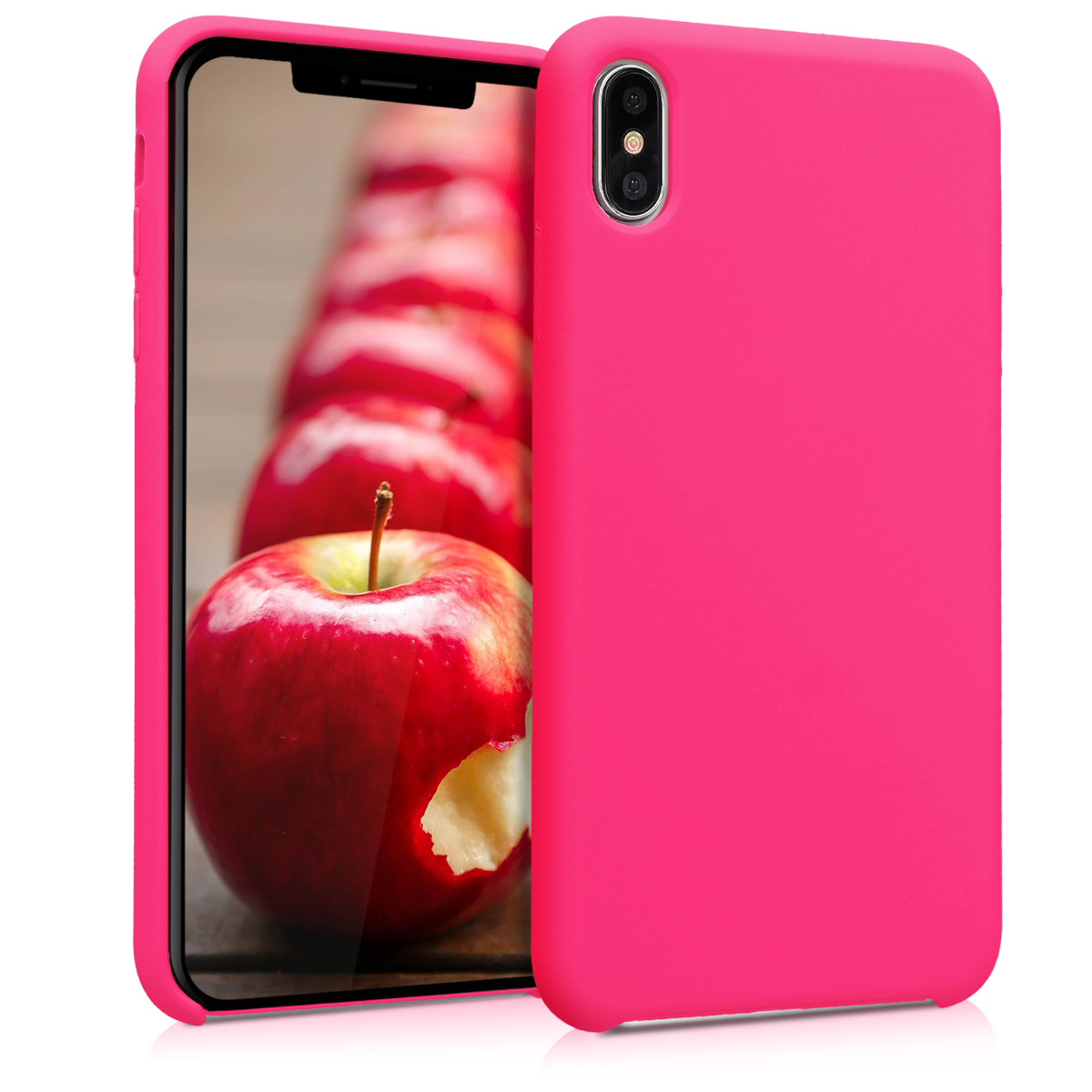 KW TPU Θήκη Σιλικόνης Apple iPhone XS Max - Soft Flexible Rubber Protective Cover - Neon Pink (45909.08)