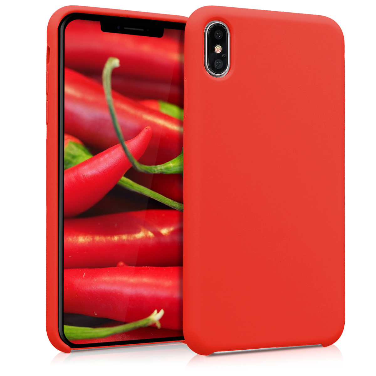 KW Soft Flexible Rubber Θήκη Σιλικόνης iPhone XS Max - Red (45909.09)