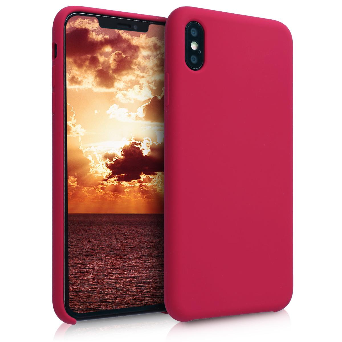 KW Soft Flexible Rubber Θήκη Σιλικόνης iPhone XS Max - Φούξια (45909.100)