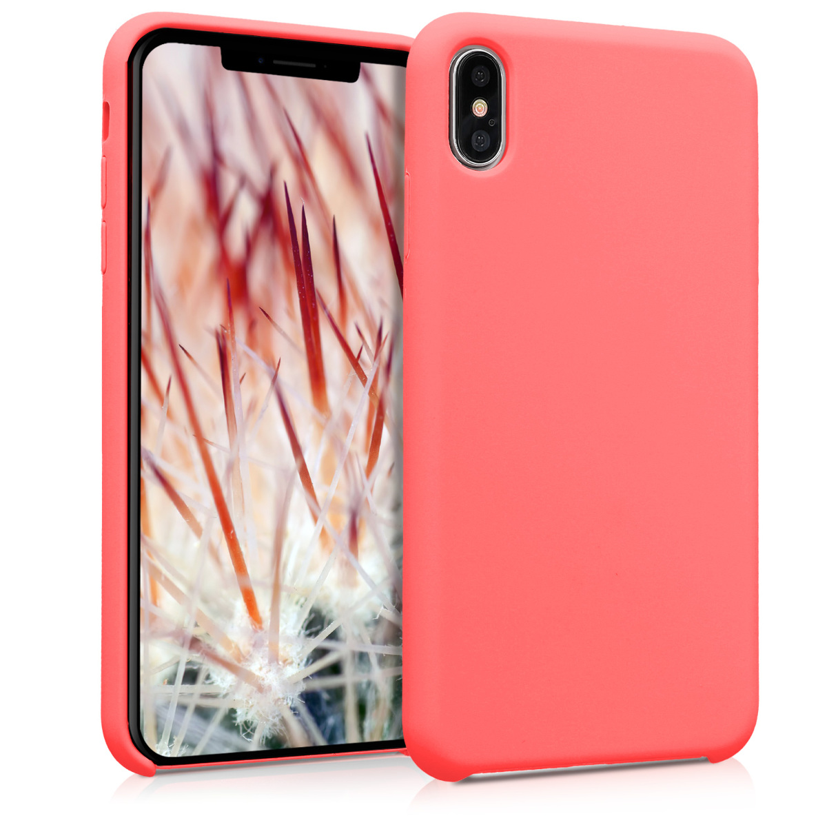 KW TPU Θήκη Σιλικόνης Apple iPhone XS Max - Soft Flexible Rubber Protective Cover - Neon Coral (45909.103)