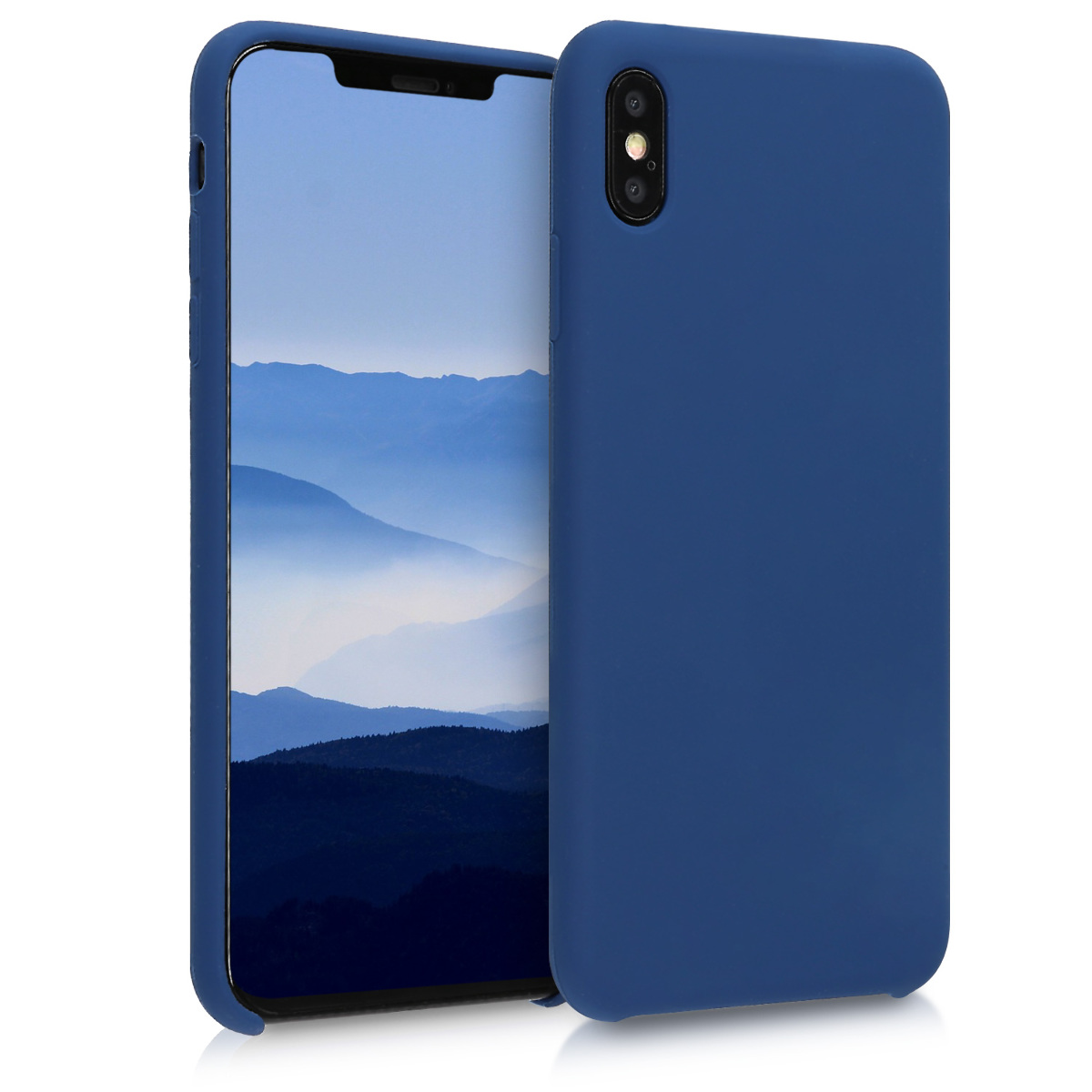KW Θήκη Σιλικόνης iPhone XS Max - Soft Flexible Rubber Protective Cover - Navy Blue - (45909.116)