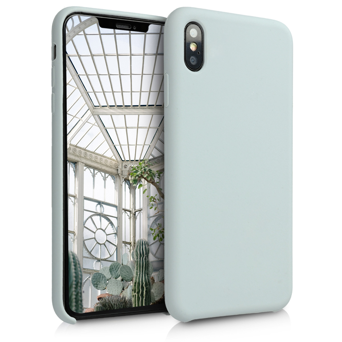 KW TPU Θήκη Σιλικόνης Apple iPhone XS Max - Soft Flexible Rubber Protective Cover - Light Grey Matte (45909.70)