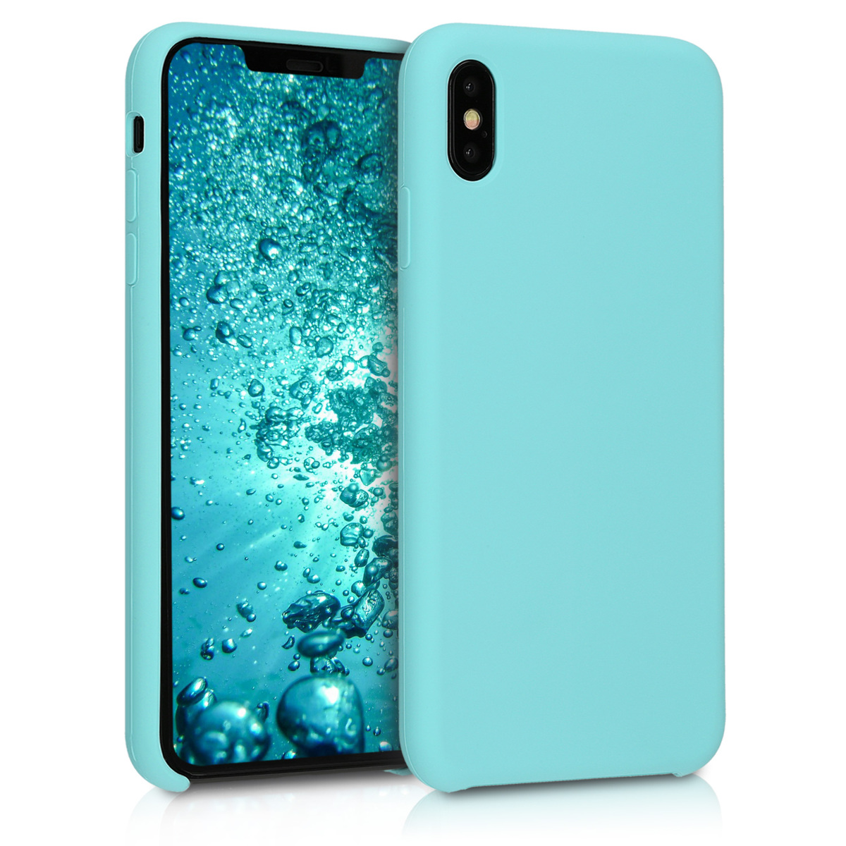 KW Θήκη Σιλικόνης iPhone XS Max - Soft Flexible Rubber Protective Cover - Mint Matte - (45909.71)