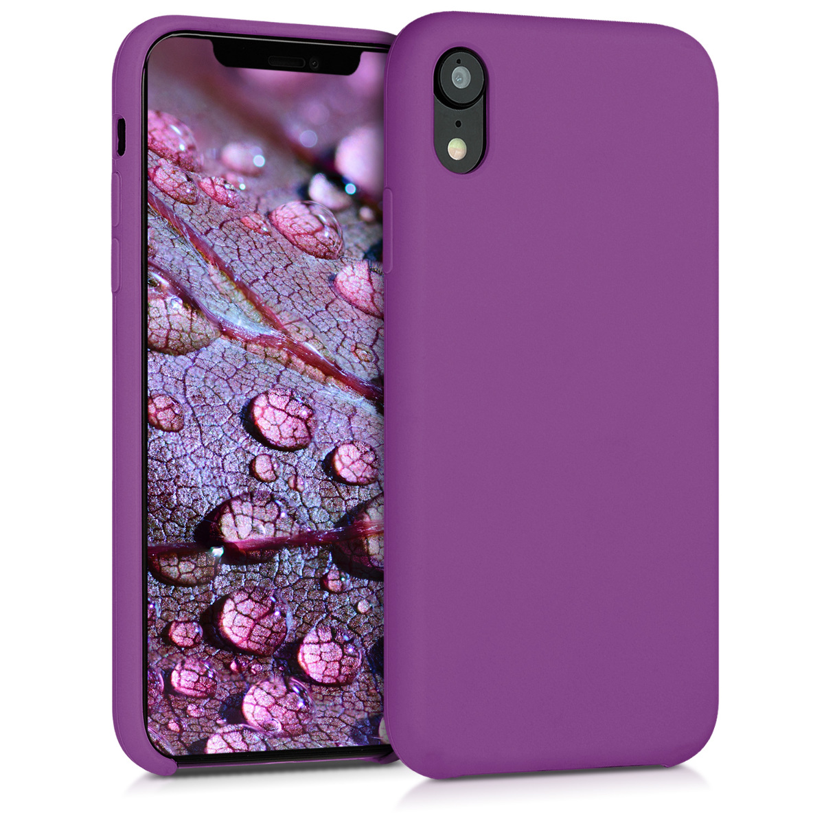 KW Θήκη Σιλικόνης iPhone XR - Soft Flexible Rubber Protective Cover - Pastel Purple - (45910.102)