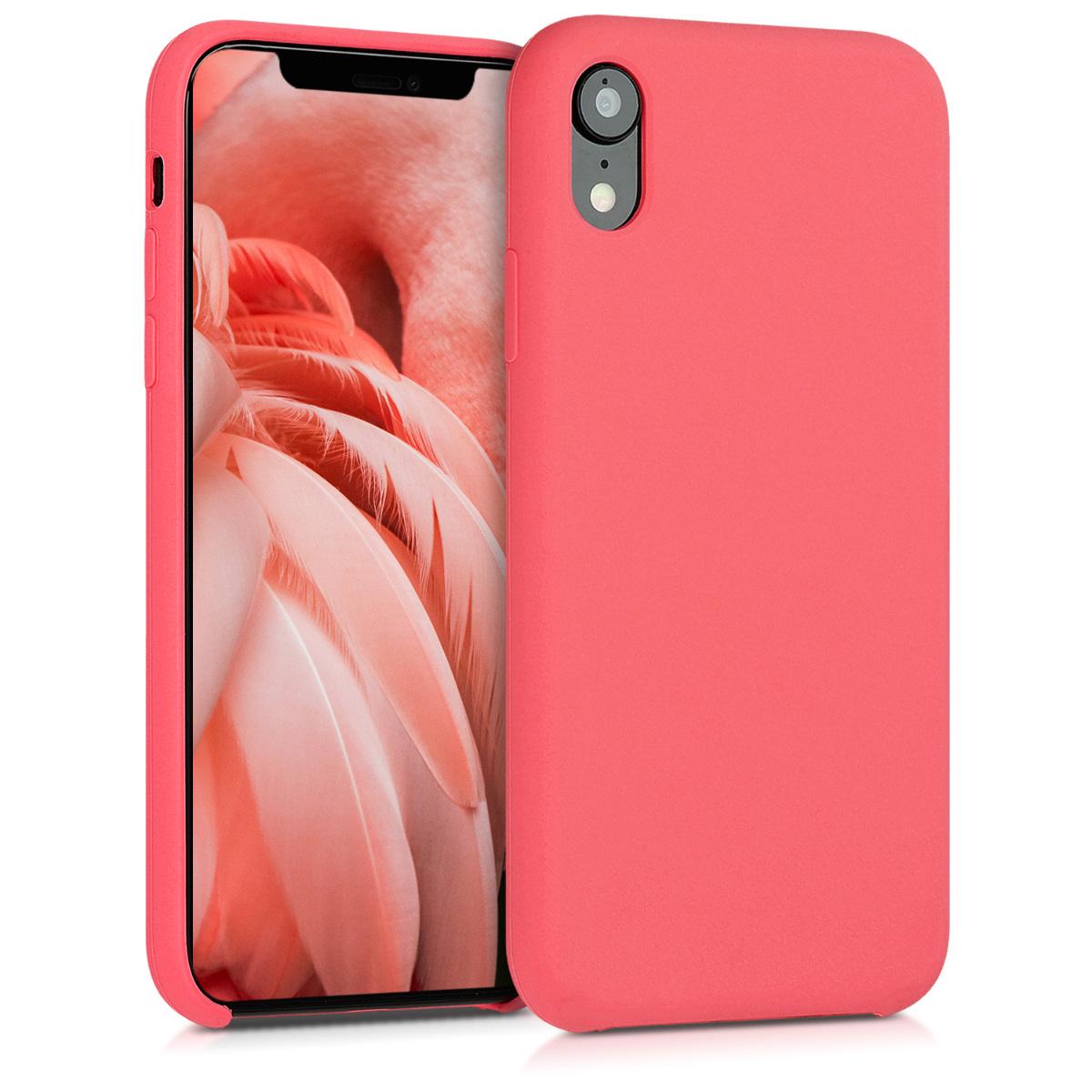 KW Soft Flexible Rubber Θήκη Σιλικόνης iPhone XR - Neon Κοραλί (45910.103)