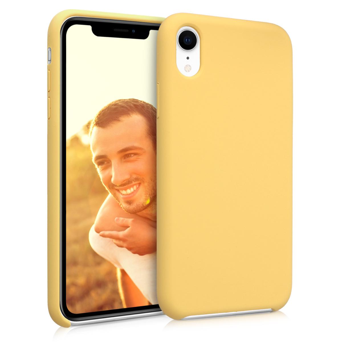 KW Θήκη Σιλικόνης TPU Apple iPhone XR - Soft Flexible Rubber  - Yellow (45910.49)