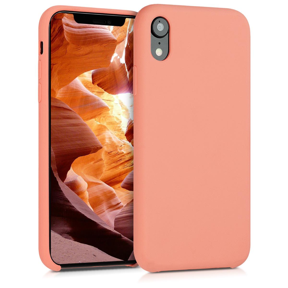 KW Θήκη Σιλικόνης iPhone XR - Coral (45910.76)