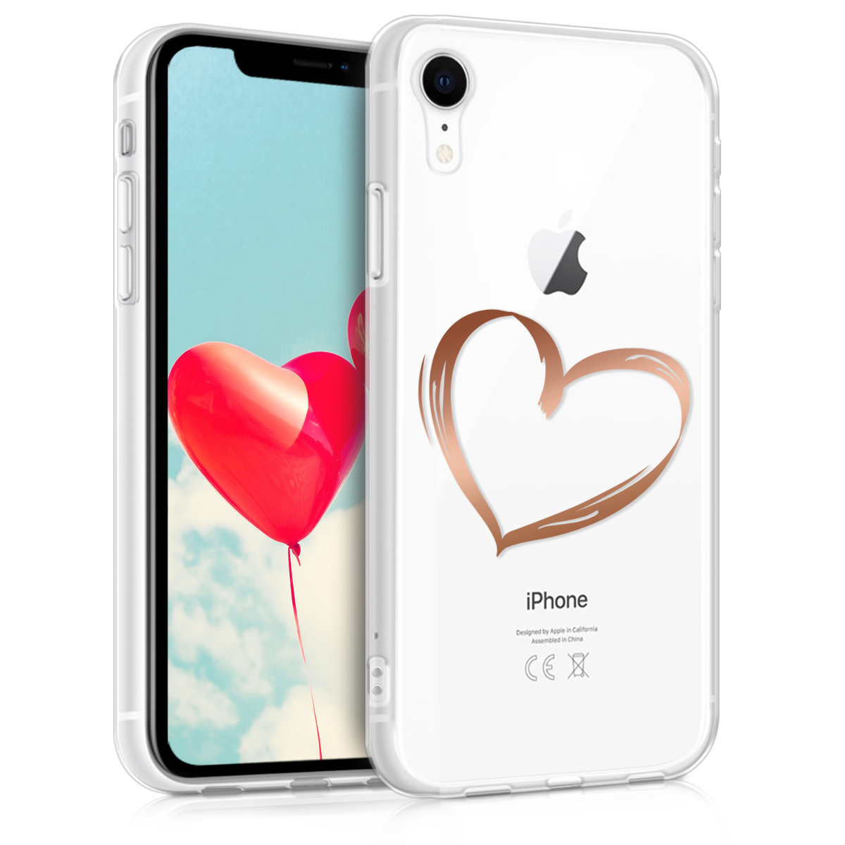KW Θήκη Σιλικόνης iPhone XR - Rose Gold / Transparent (45912.08)