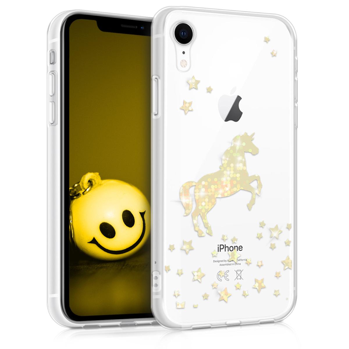KW Θήκη Σιλικόνης Apple iPhone XR - Rose Gold / Transparent (45912.32)