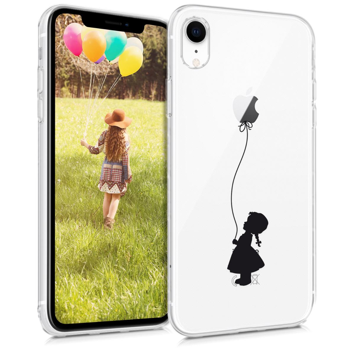 KW Θήκη Σιλικόνης iPhone XR - Black / Transparent (45915.02)