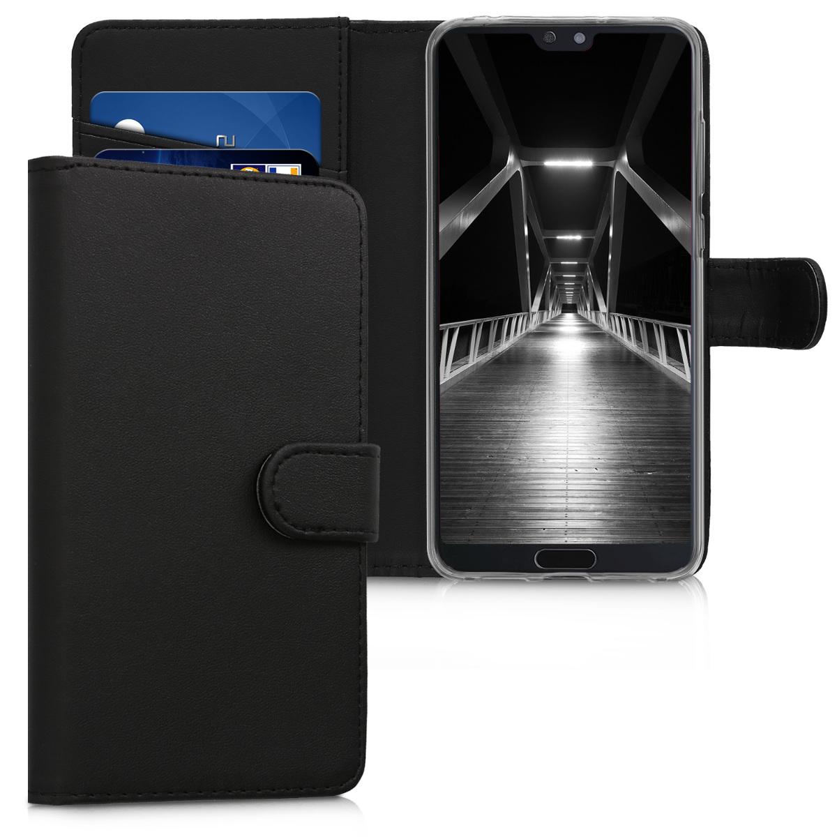 KW Θήκη Πορτοφόλι Huawei P20 Pro - Συνθετικό Δέρμα - Black (45926.01)