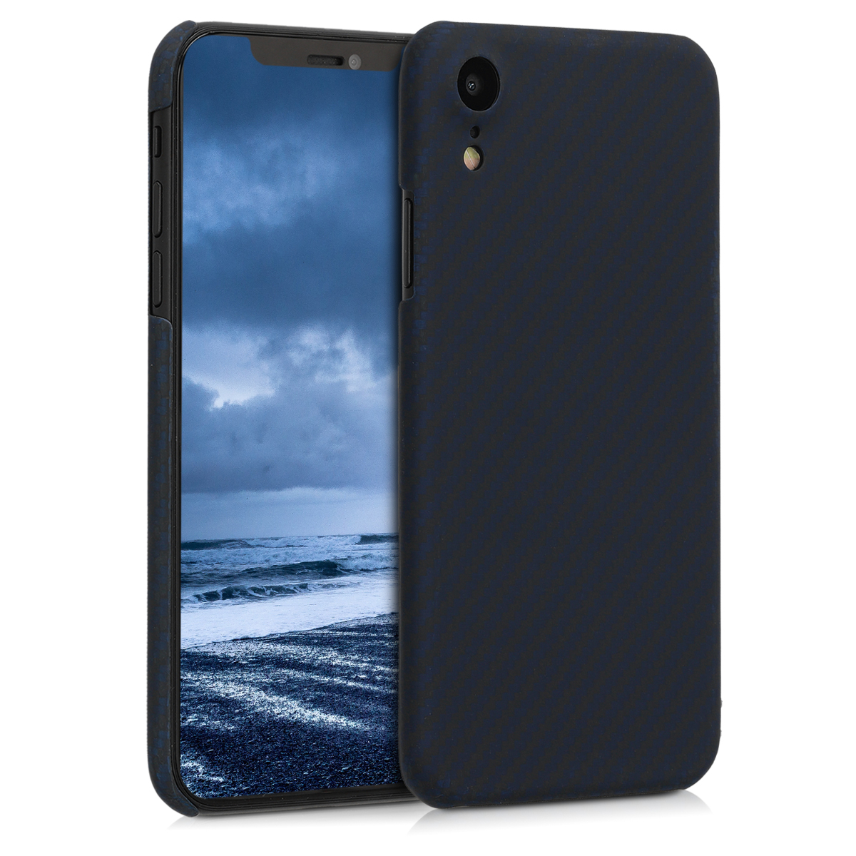 Kalibri Aramid Fiber Body - Σκληρή Θήκη Apple iPhone XR - Dark Blue / Black (45954.17)