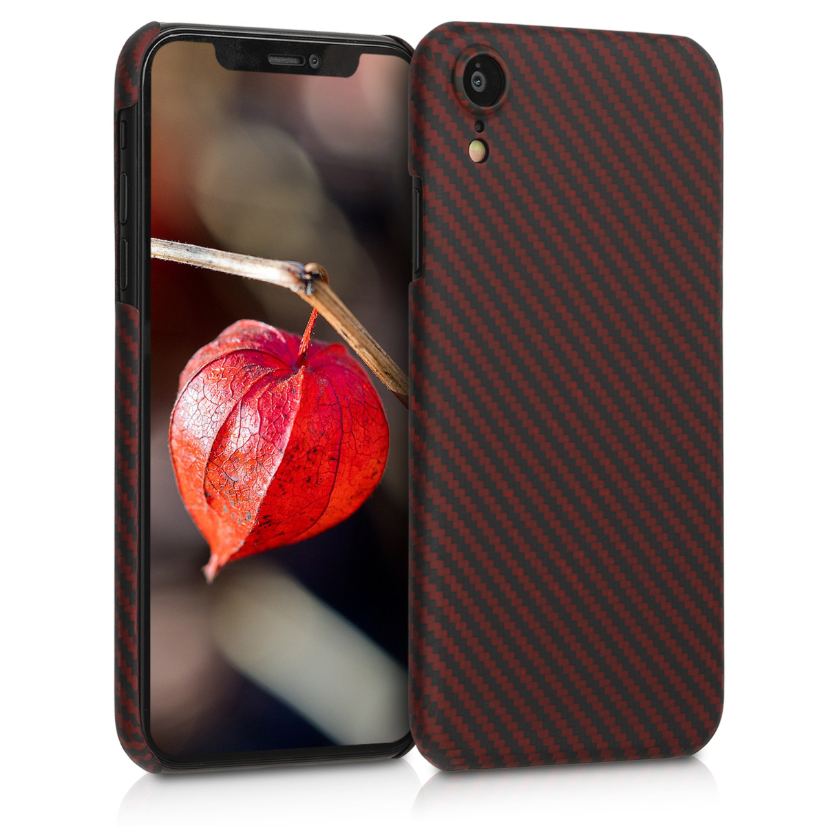 Kalibri Aramid Fiber Body - Σκληρή Θήκη iPhone XR - Red / Black Matte (45954.51)