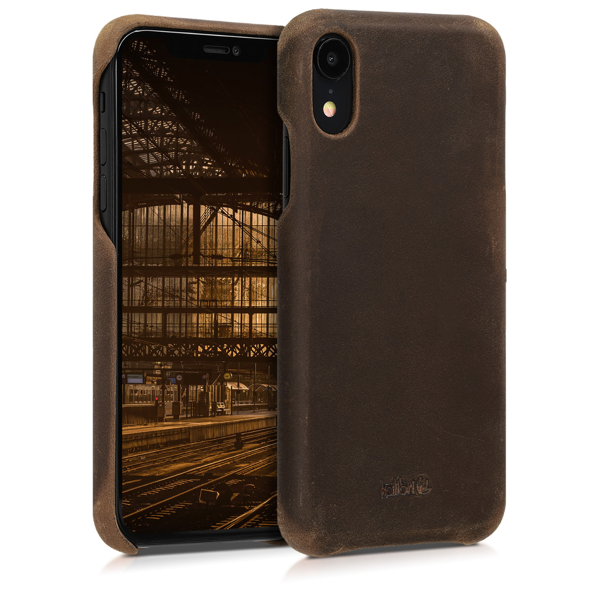 Kalibri Σκληρή Δερμάτινη Θήκη iPhone XR - Brown (45955.05)