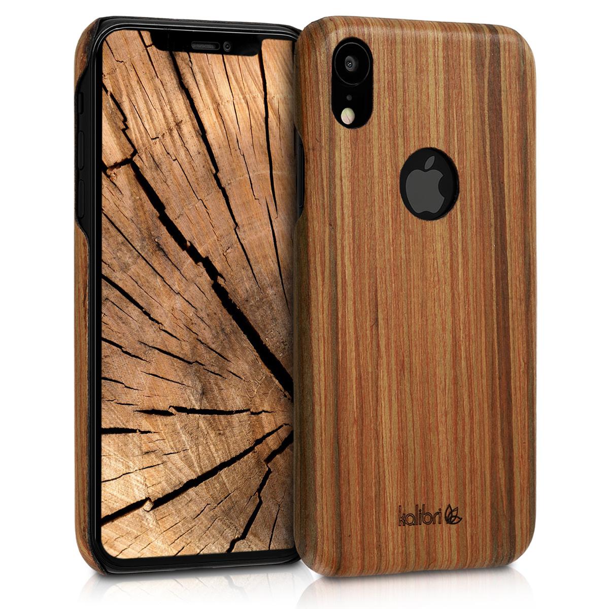 KW Ξύλινη Θήκη iPhone XR - Καφέ (45958.18)