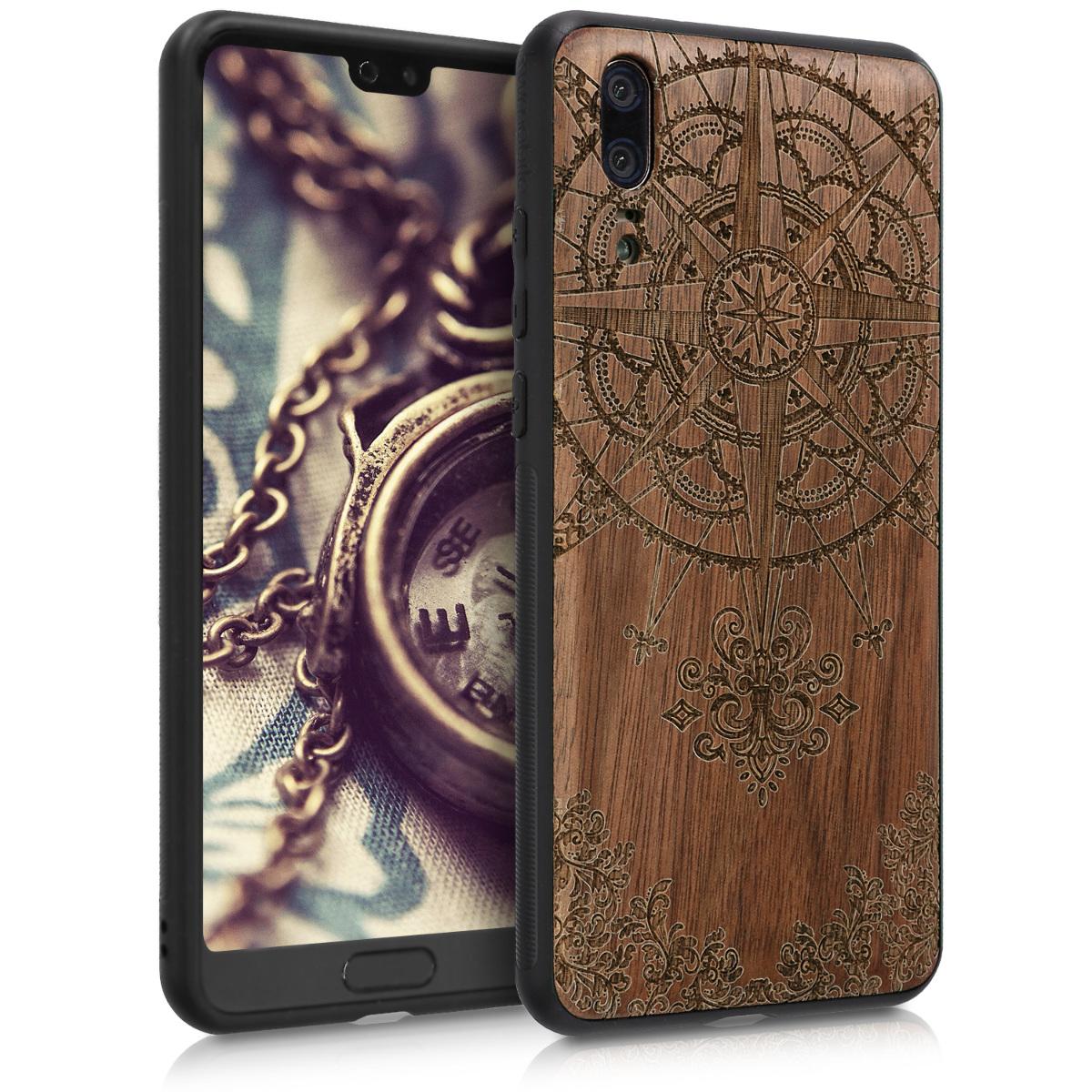 KW Ξύλινη Θήκη Huawei P20 -  Baroque Compass - (45989.01)
