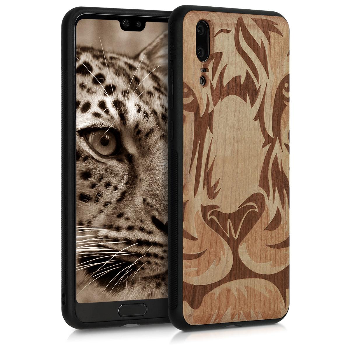 KW Ξύλινη Θήκη Huawei P20 - Τίγρης (45989.08)