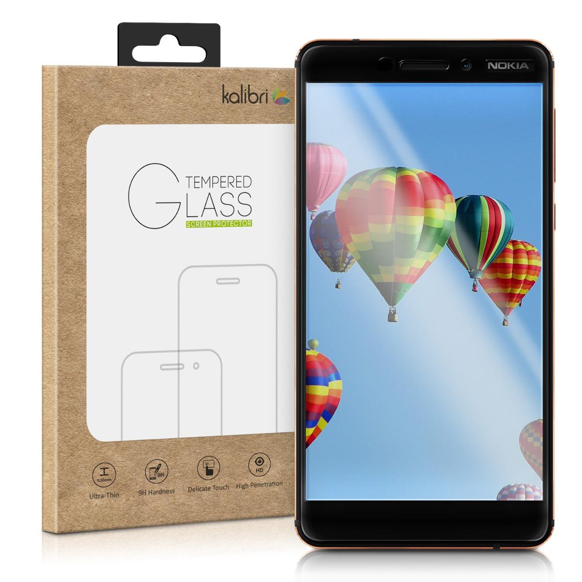 Kalibri Tempered Glass - Fullface Αντιχαρακτικό Γυαλί Οθόνης Nokia 6.1 2018 - Black Frame (45990.01)