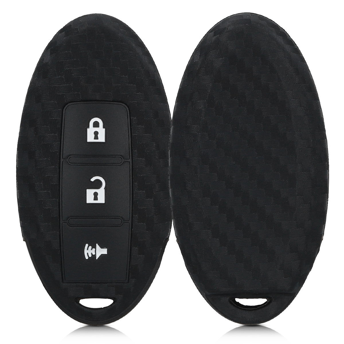 KW Silicone Θήκη Κλειδιού Nissan - 3 Κουμπιά - Black (46050.03)