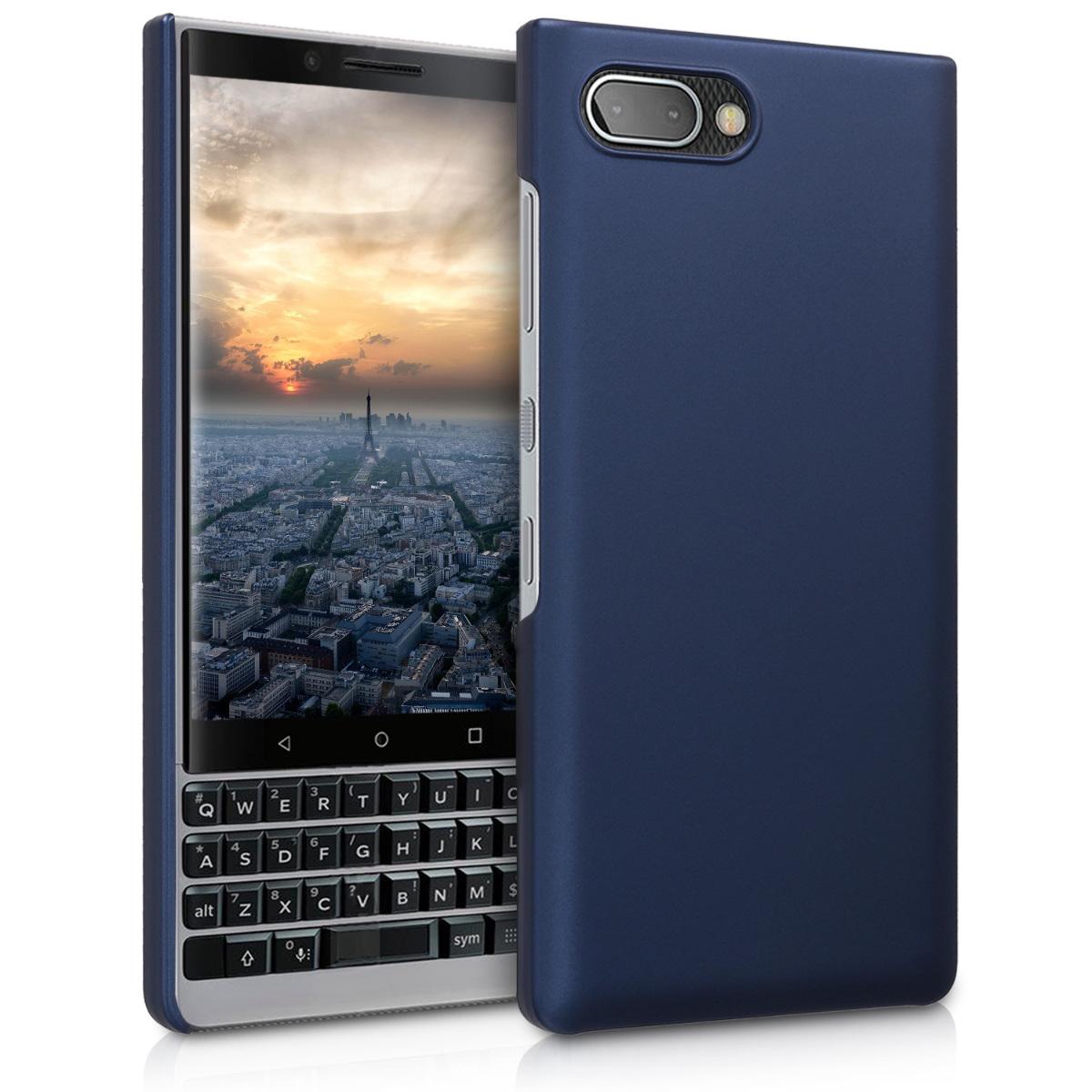 KW Slim Anti-Slip Cover - Σκληρή Θήκη Καουτσούκ BlackBerry KEY2 - Metallic Blue (46063.64)