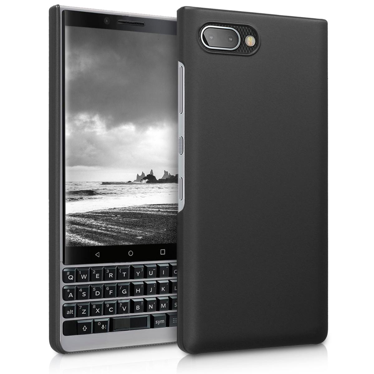 KW Slim Anti-Slip Cover - Σκληρή Θήκη Καουτσούκ BlackBerry KEY2 - Μαύρο μεταλλικό (46063.68)