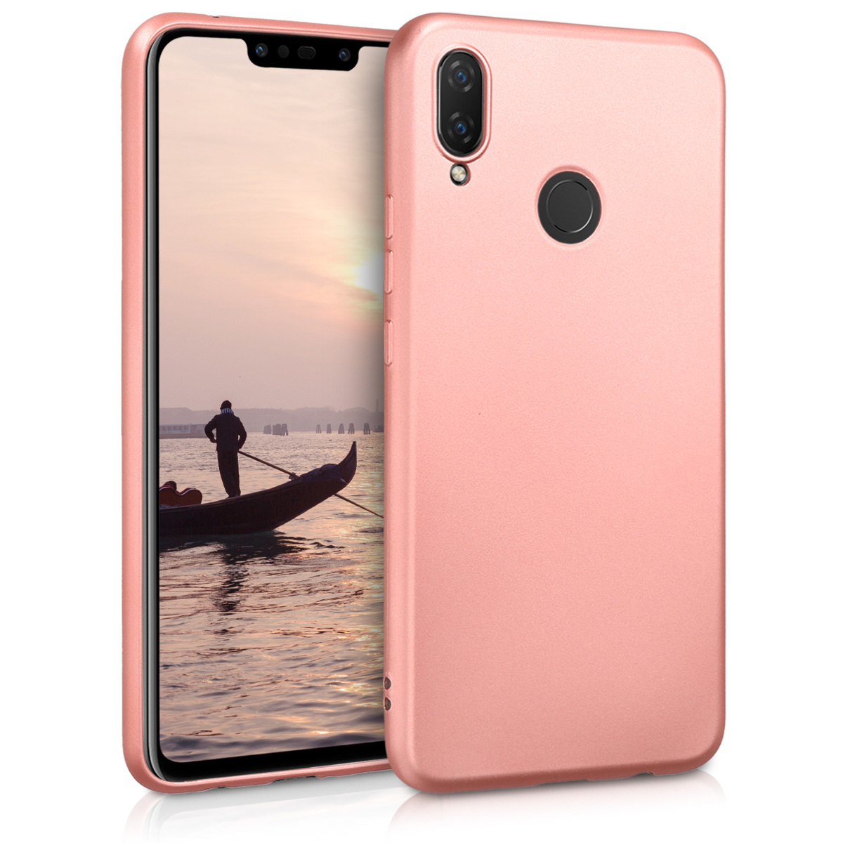KW Θήκη Σιλικόνης Huawei P Smart Plus - Metallic Rose Gold (46093.31)