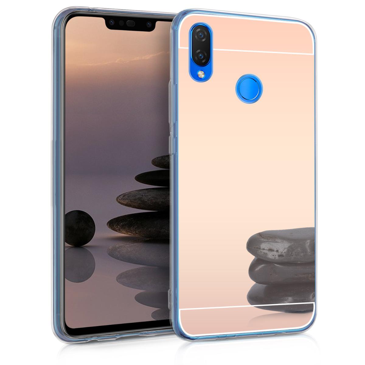 KW Θήκη Σιλικόνης με Καθρέφτη Huawei P Smart Plus - Rose Gold (46096.81)
